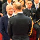 John Tiffany is made an OBE by The Duke of Cambridge at Buckingham Palace (Jonathan Brady/PA)