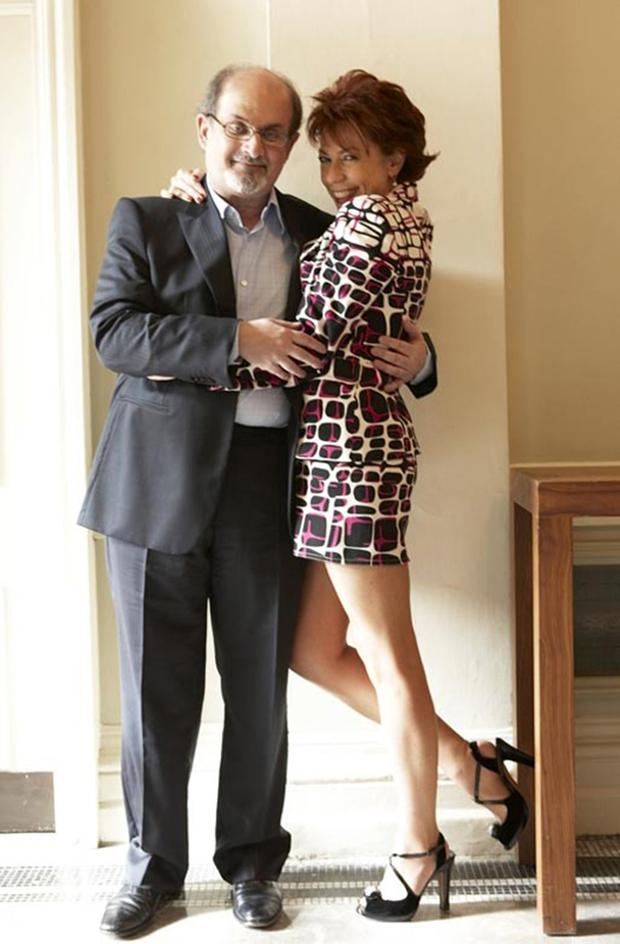 Kathy Lette with her pal Salman Rushdie