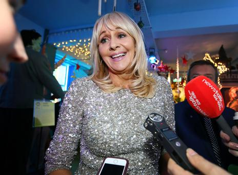 Pain in the Áras: Miriam faces a barrage of questions about a run for the presidency at the launch of the annual LauraLynn Heroes Ball. Photo: Frank McGrath