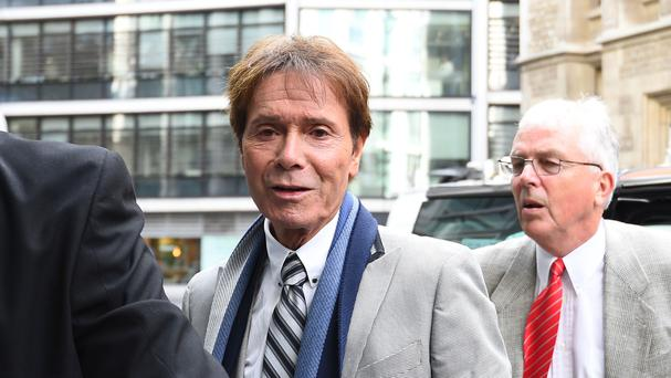 Sir Cliff Richard arrives at the Rolls Building in London (Kirsty O'Connor/PA)
