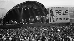Tipp top: That Petrol Emotion on stage during Féile 1991 in Thurles
