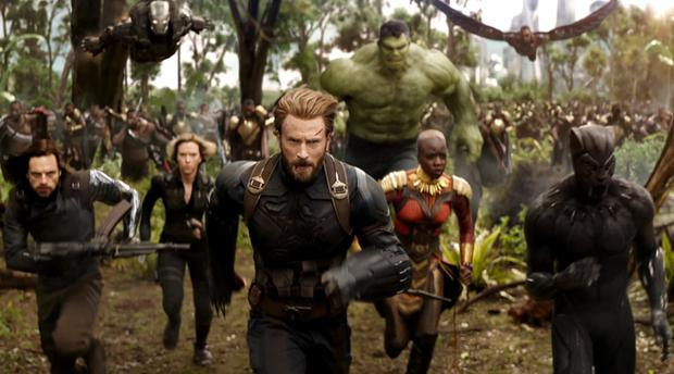 We don't need another hero: Chris Evans, aka Captain America, leads a slew of Avengers into battle