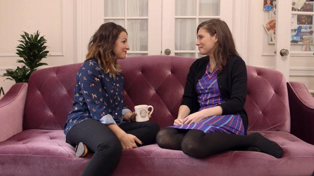 Common ground: In the first episode of Amanda's show The Scarlet Letter Reports she meets feminist video blogger Anita Sarkeesian, who has experienced online harassment and death threats