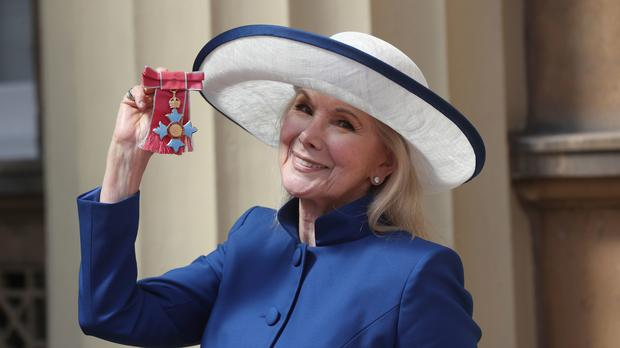 Actress Susan Hampshire after receiving her CBE in an investiture ceremony at Buckingham Palace (Jonathan Brady/PA)