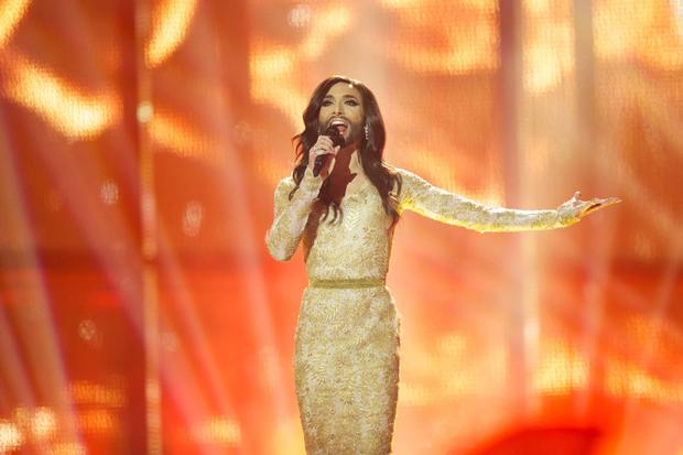 Conchita Wurst of Austria performs on stage during the grand final of the Eurovision Song Contest. Photo: Getty Images