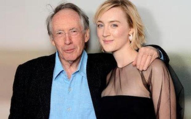 MUTUAL ADMIRATION: Ian McEwan and Saoirse Ronan attend a screening of On Chesil Beach. Photo: Getty