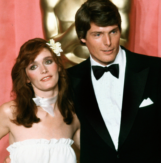 SUPERMAN CURSE: Margot Kidder and Christopher Reeve appear at an awards ceremony in Los Angeles in 1978