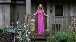 Style: Chanelle, Lady McCoy, photographed at Soho Farmhouse in Oxfordshire, England.