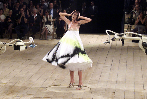 Showstopper: Alexander McQueen pushed the boundaries with his designs