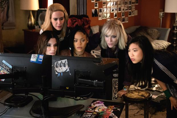 Tech that: Sandra Bullock, Sarah Paulson, Rihanna, Cate Blanchett and Awkwafina in Ocean's 8