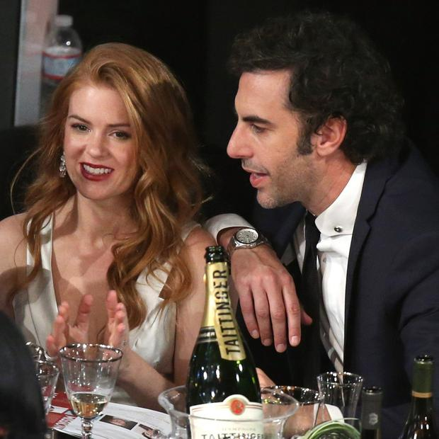 Isla Fisher and her husband, comedian Sacha Baron Cohen