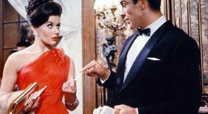 LADY IN RED: First Bond girl Eunice Gayson in 1962's 'Dr No'