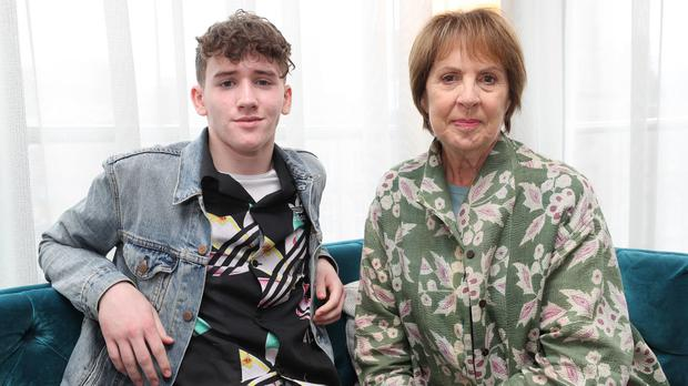Art Parkinson and Penelope Wilton speaking about their new movie Zoo (Niall Carson/PA)