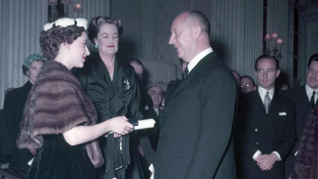 Princess Margaret and Christian Dior (Photo by Popperfoto/Getty Images)