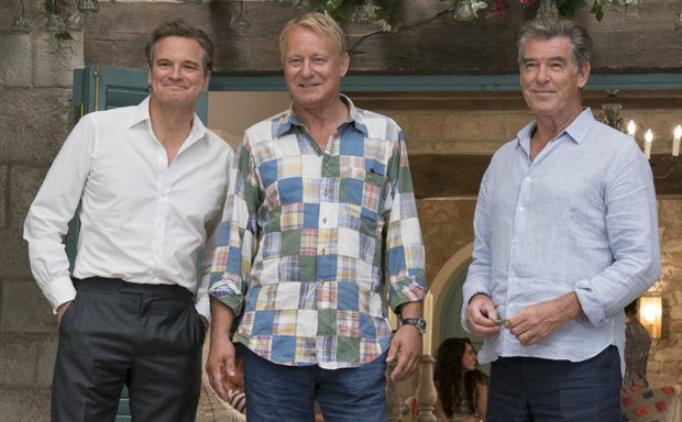 Colin Firth, Stellan Skarsgard and Pierce Brosnan play the three dads