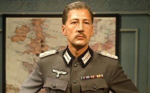 NATIONAL RECOGNITION: Bernard Hepton, as the German Kommandant in the classic TV series 'Colditz'
