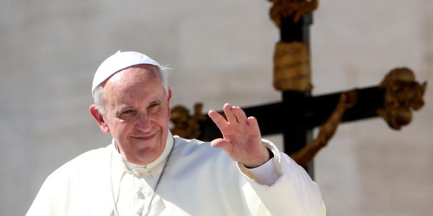 Holy man on a mission: Pope Francis comes across as sincere in A Man of His Word. Picture: Getty
