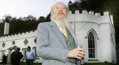 Garech Brownes in the grounds of his stately home in Co Wicklow. Photo: David Conachy