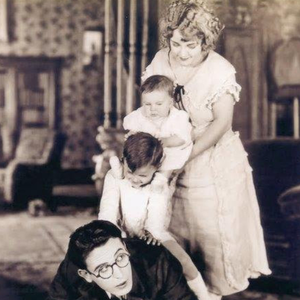 Beaming Smile: Jack Edwards makes his screen debut in the 1921 comedy short 'I Do' with Harold Lloyd, Edwards's fellow child star, and Jack Morgan and Mildred Davis