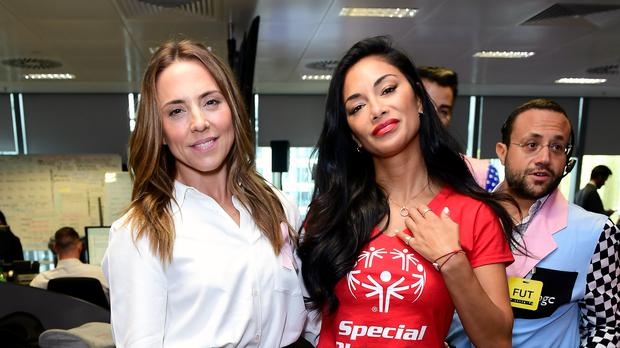 Melanie Chisholm and Nicole Scherzinger were among the stars helping out (Ian West/PA)
