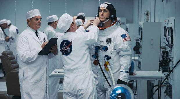 Ryan Gosling as the tightly wound Neil Armstrong in First Man