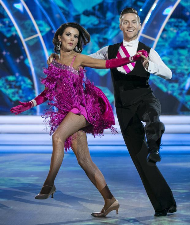 Deirdre O'Kane with dance partner John Edward Nolan during the final of RTE's 'Dancing with the Stars'