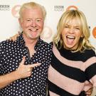 Radio 2 Breakfast Show host Chris Evans, with his replacement, Zoe Ball (Sarah Jeynes/BBC/PA)