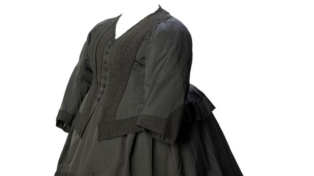 Dress ensemble, 1892. Worn by Queen Victoria when in mourning for the Duke of Clarence.Prince Albert Victor, Duke of Clarence and Avondale (Museum of London)
