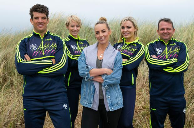 Anna with her co-stars in RTE's popular show, Ireland's Fittest Family