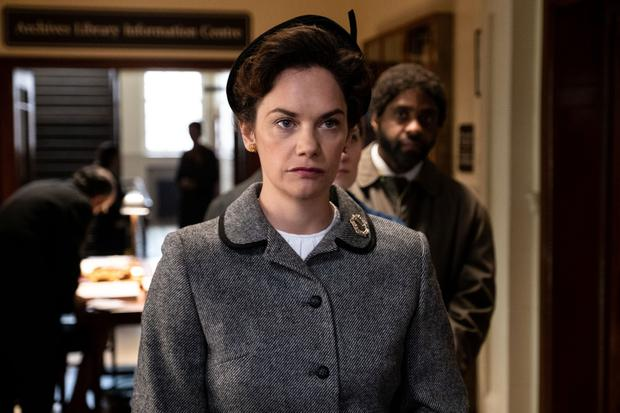 Family affair: Ruth Wilson plays the part of her own late grandmother Alison in the BBC's Mrs Wilson