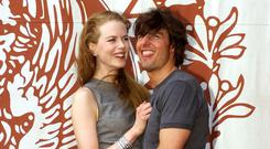 Nicole Kidman and Tom Cruise promoting 'Eyes Wide Shut' at the 56th Venice Film Festival in 1999. Picture: AP