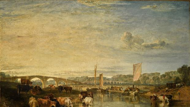 The Arts Minister has blocked the export of Turner painting Walton Bridges (Sotheby's/PA)