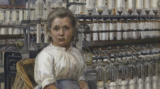 In A Glasgow Cotton Mill: Minding A Pair of Fine Frames, 1907, by Sylvia Pankhurst (Tate/PA)