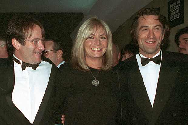 COMEDY CONNOISSEUR: Abover, director Penny Marshall with co-stars of 'Awakenings' Robin Williams and Robert De Niro. Photo: AP