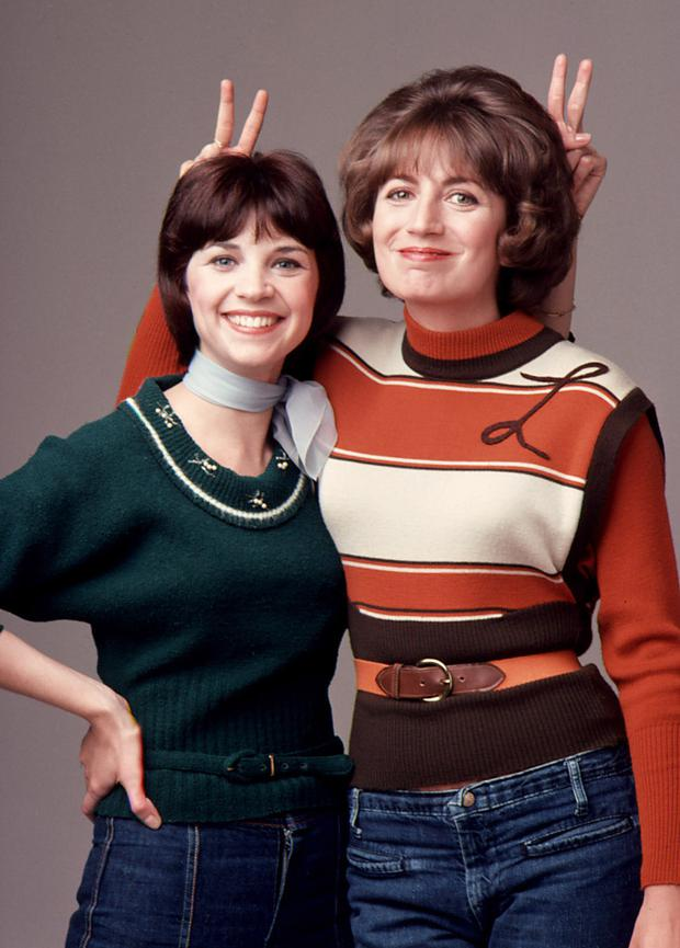 Cindy Williams and Penny Marshall in 'Laverne and Shirley'