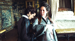 Rachel Weisz (left) is well cast as the steely and formidable Sarah but Olivia Colman dominates the film