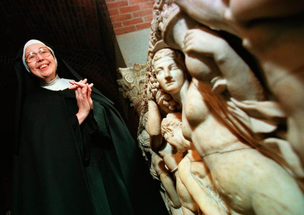 TV star: Sister Wendy Beckett became a familiar figure as a television art expert in the 1990s. Photo: AP