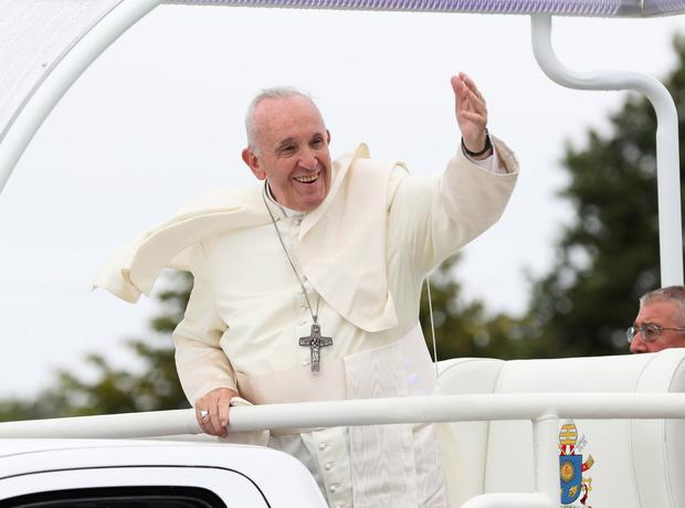Pope Francis at the Phoenix Park in Dublin.