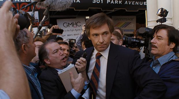 Hugh Jackman as Gary Hart in The Frontrunner