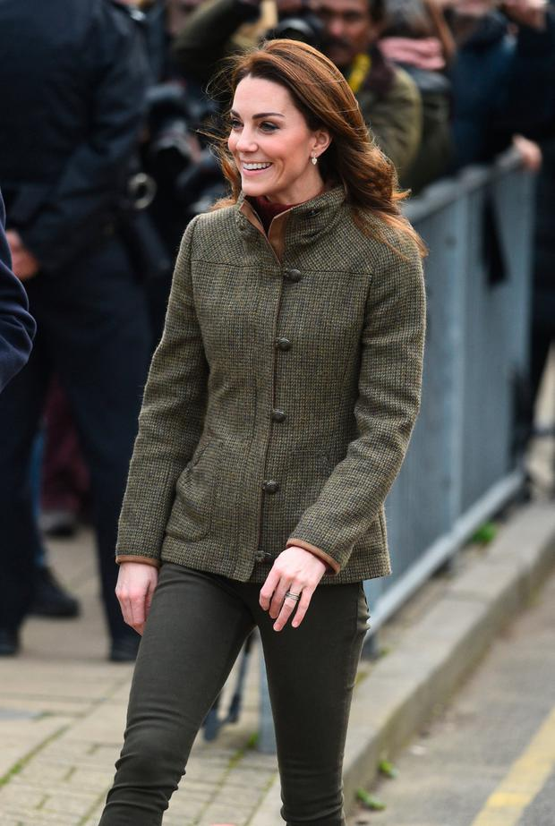 Fashion boost: Kate Middleton visits King Henry's Walk Garden in Islington, London, in a Dubarry jacket on Tuesday. Her fashion choice could trigger an upsurge in sales for the Galway brand