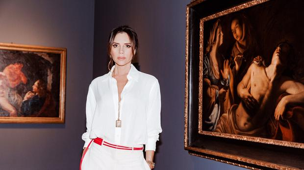 Victoria Beckham at Sotheby's for the launch of The Female Triumphant (Tom Newton/PA)