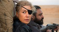 Rosamund Pike plays war journalist Marie Colvin who lives for the adrenalin rush of combat