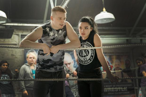 Jack Lowden and Florence Pugh in 'Fighting With My Family'