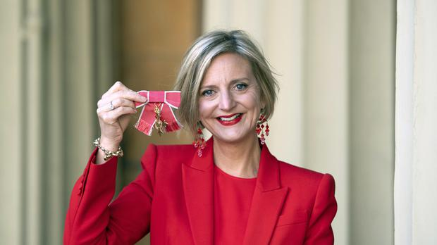 Theatre Director Marianne Elliott after after receiving an Officer of the Order of the British Empire (OBE) medal for services to the theatre, in an Investiture ceremony at Buckingham Palace, London.