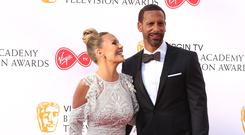 Rio Ferdinand and Kate Wright (PA)