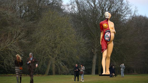 Damien Hirst's The Virgin Motherwill go on display. (Yui Mok/PA)