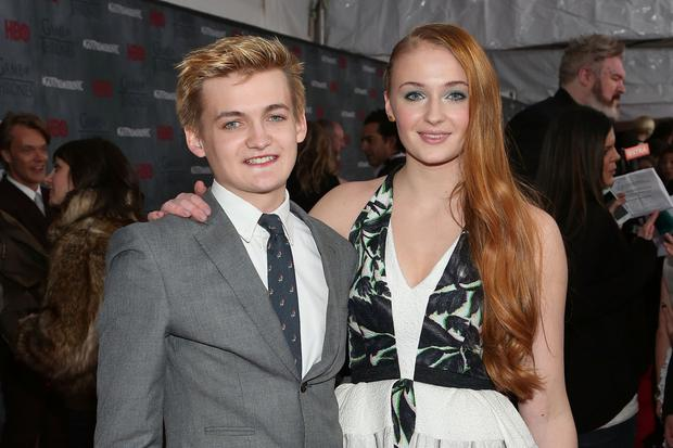 Game over: Jack Gleeson with his Game of Thrones co-star Sophie Turner
