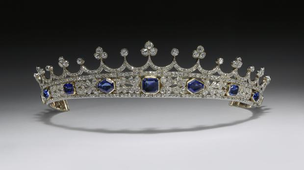 Queen Victoria's sapphire and diamond coronet, designed by Prince Albert, (Victoria And Albert Museum)