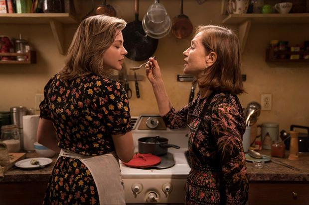 Chloe Grace-Moretz is stalked by Isabelle Huppert (right) in Greta