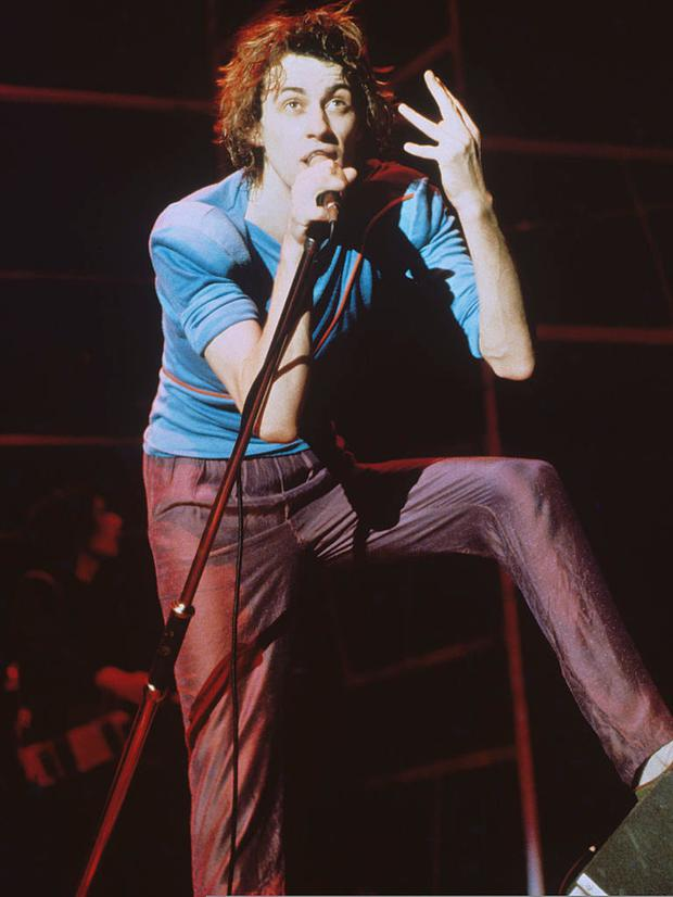 Bob Geldof performs with The Boomtown Rats in the late 1970s
